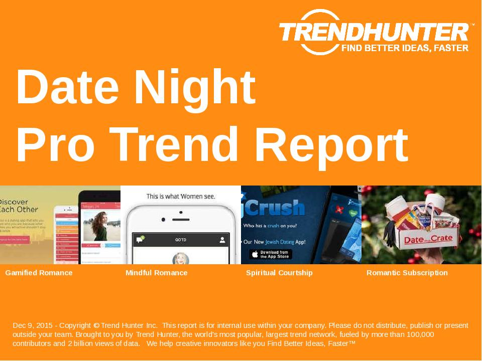 Date Night Trend Report Research
