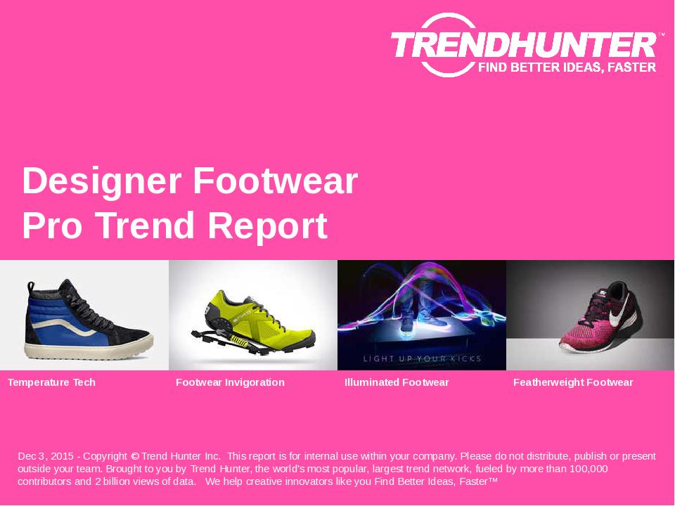 Designer Footwear Trend Report Research