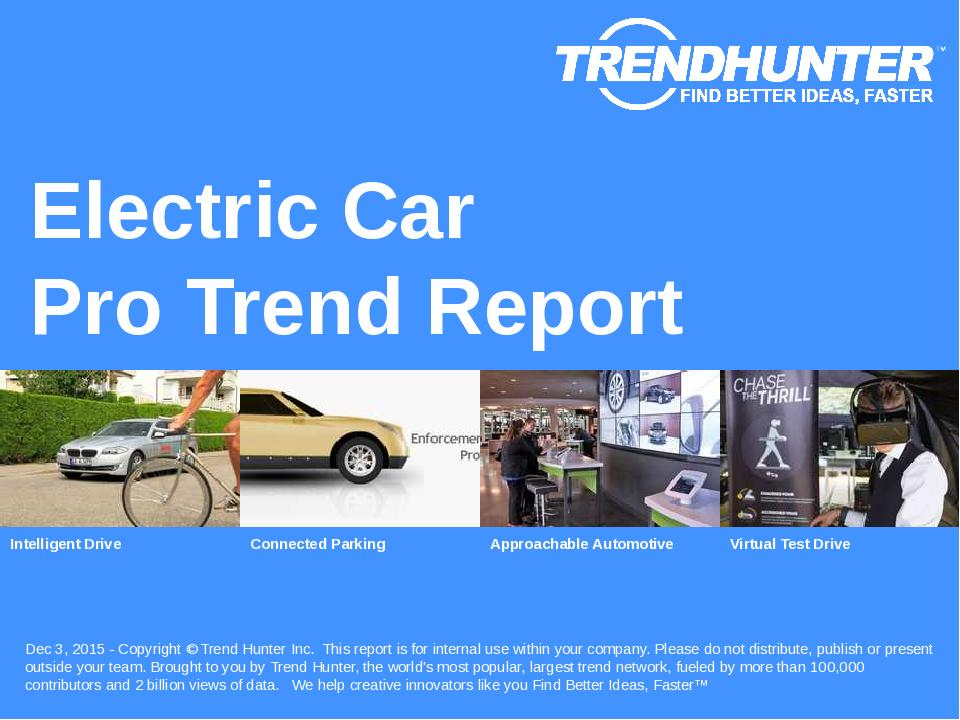Electric Car Trend Report Research