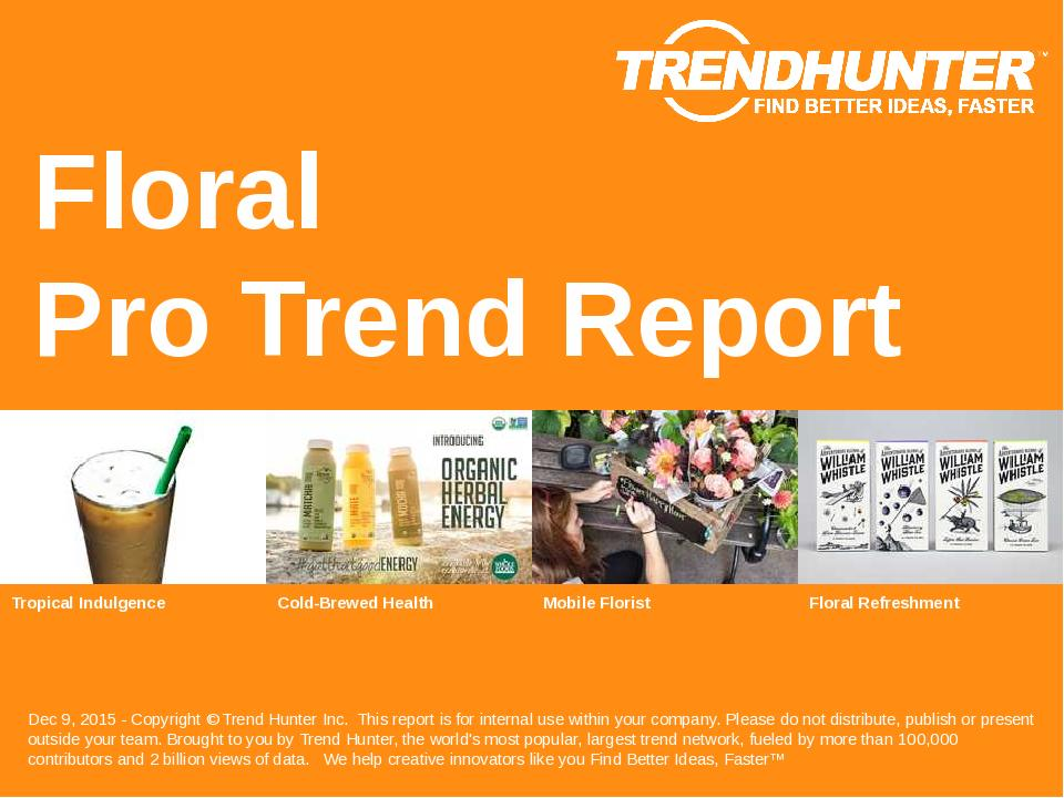 Floral Trend Report Research