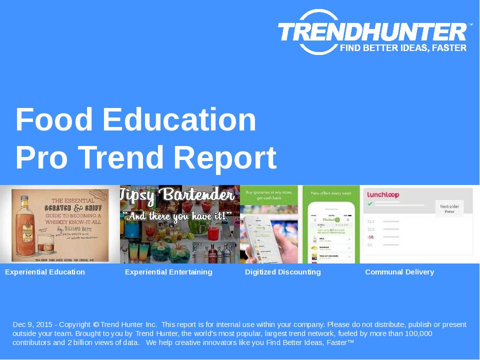 Food Education Trend Report Research
