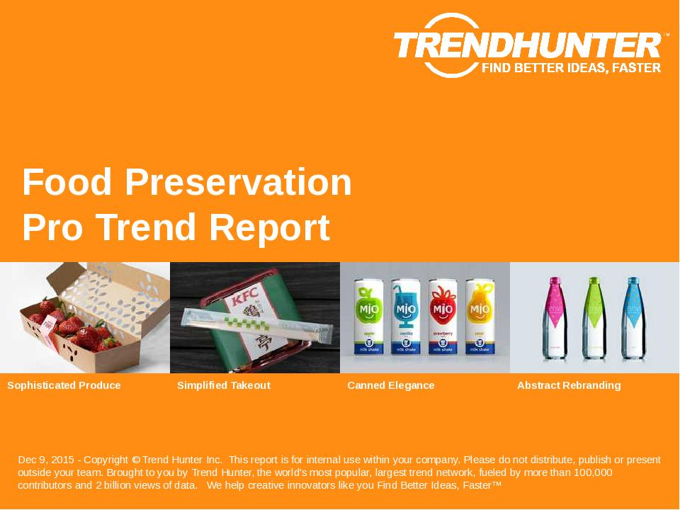 Food Preservation Trend Report Research