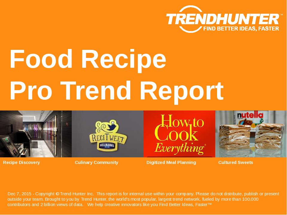 Food Recipe Trend Report Research
