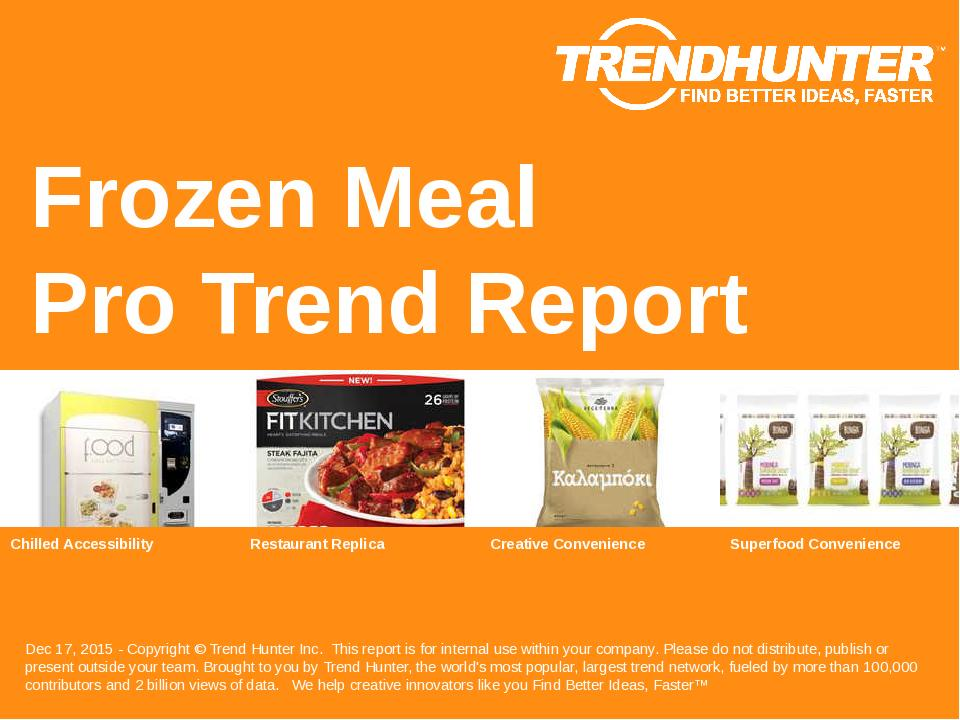 Frozen Meal Trend Report Research