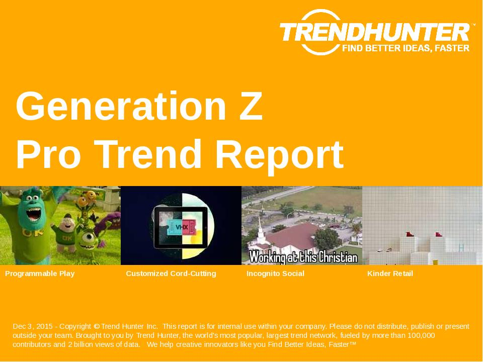 Generation Z Trend Report Research