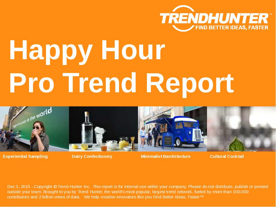 Happy Hour Trend Report Research
