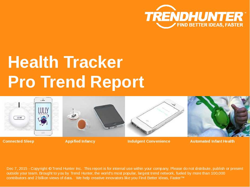 Health Tracker Trend Report Research
