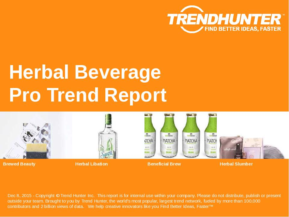 Herbal Beverage Trend Report Research