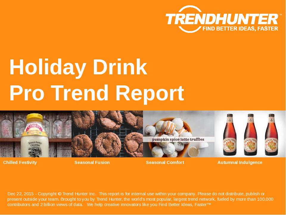 Holiday Drink Trend Report Research