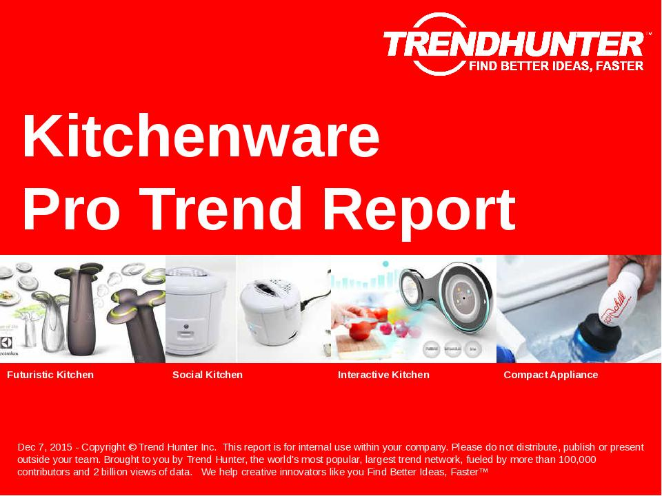 Kitchenware Trend Report Research