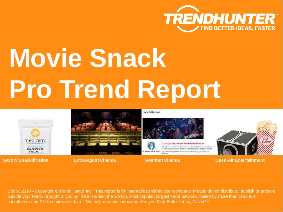 Movie Snack Trend Report Research