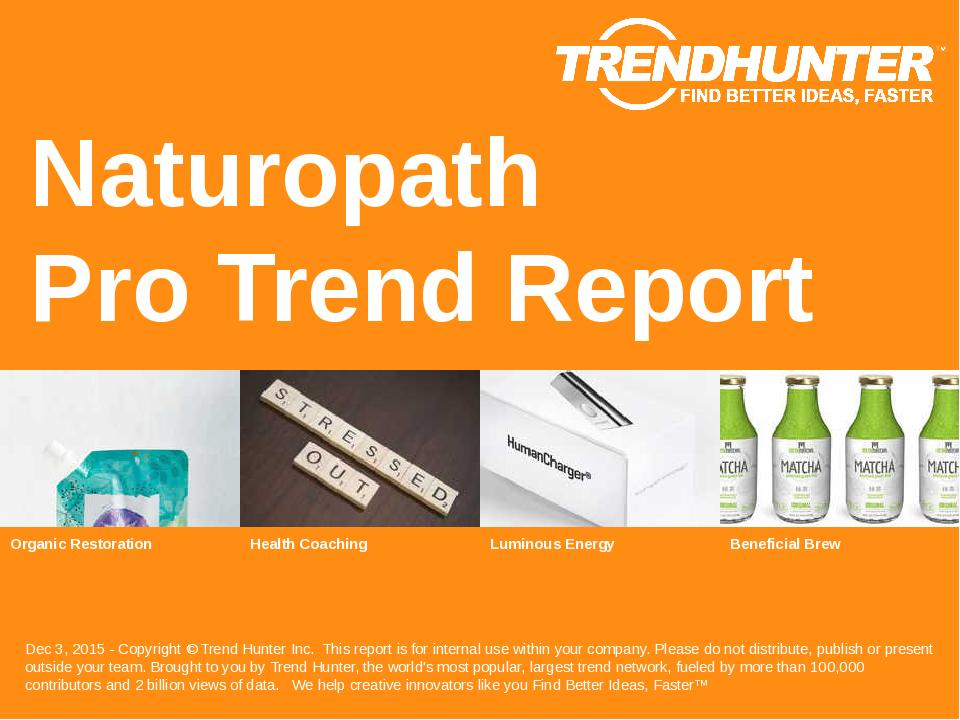 Naturopath Trend Report Research