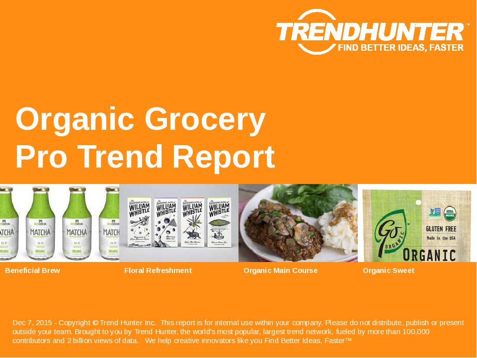Organic Grocery Trend Report Research