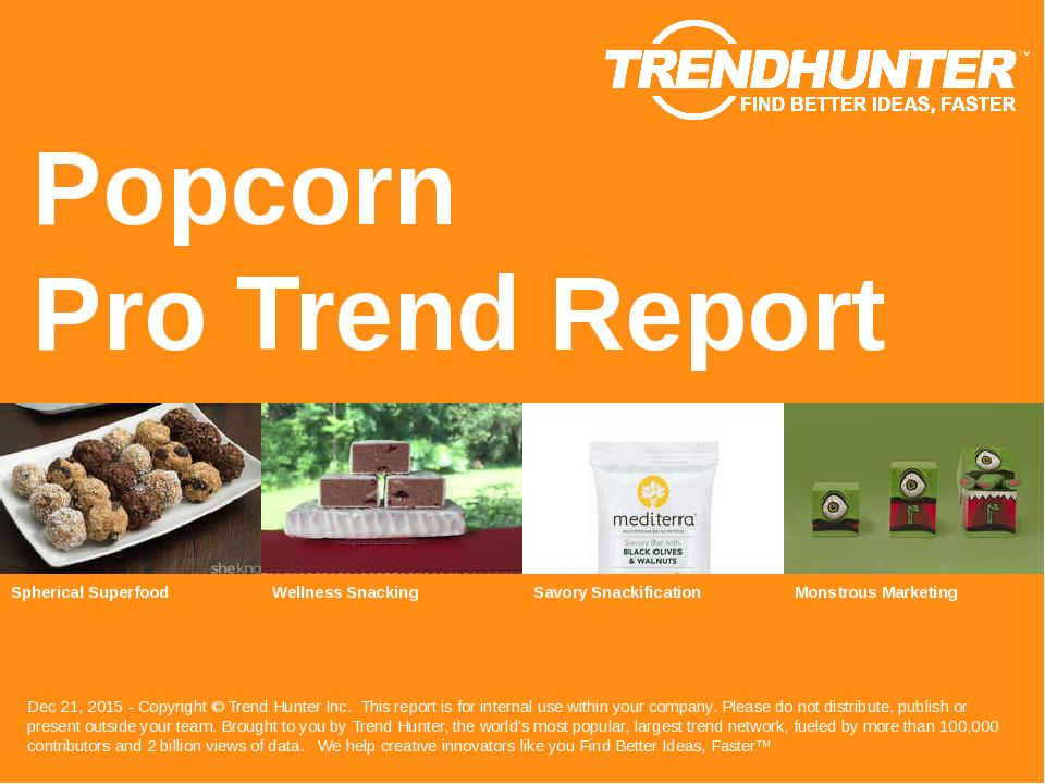 Popcorn Trend Report Research