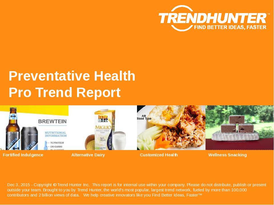 Preventative Health Trend Report Research