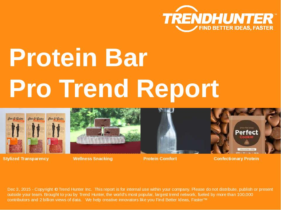 Protein Bar Trend Report Research