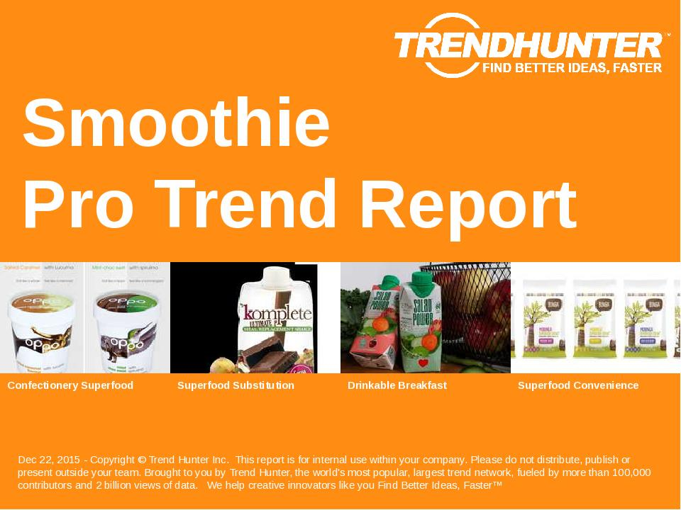 Smoothie Trend Report Research