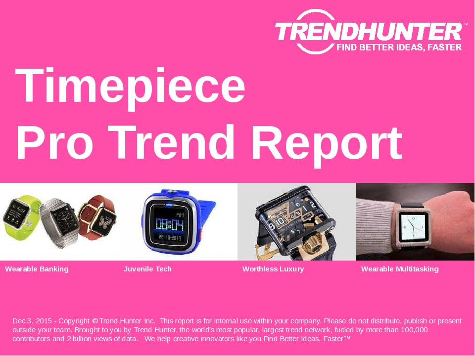 Timepiece Trend Report Research