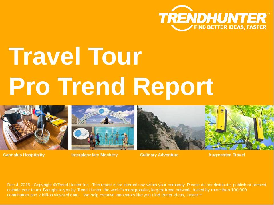 Travel Tour Trend Report Research