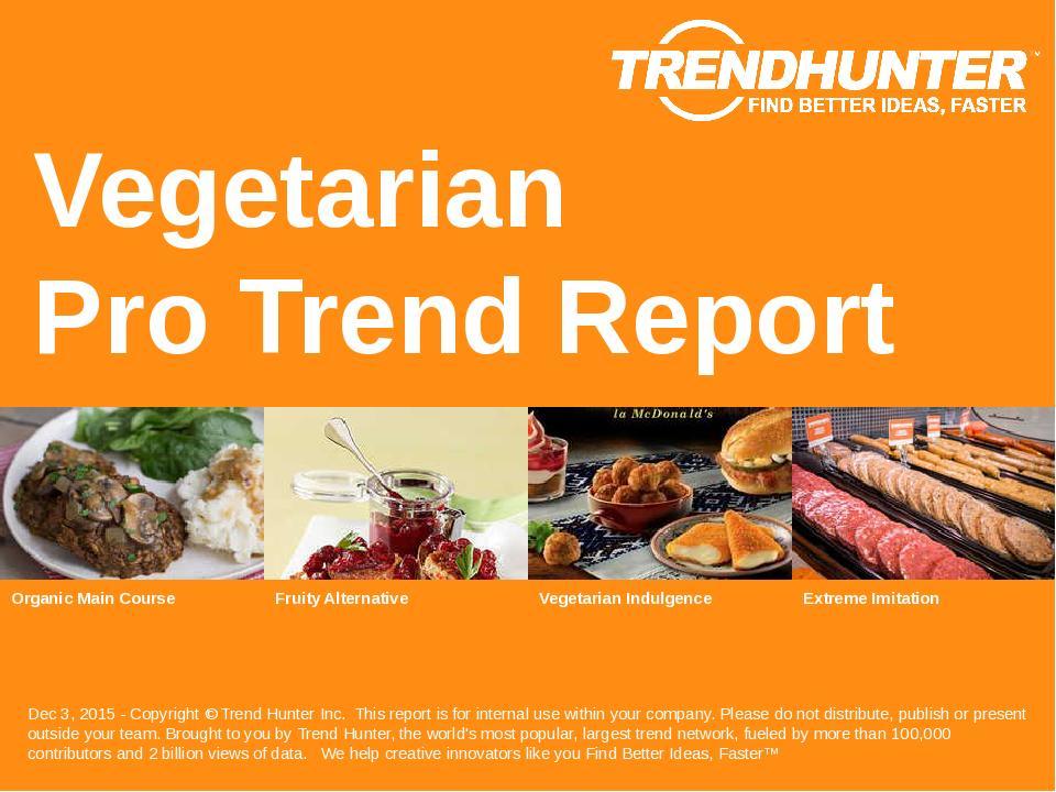 Vegetarian Trend Report Research