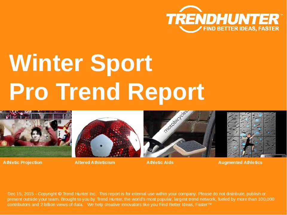 Winter Sport Trend Report Research