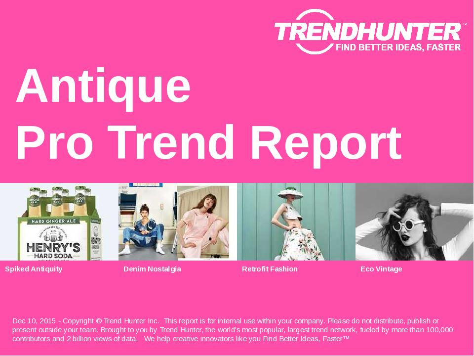 Antique Trend Report Research