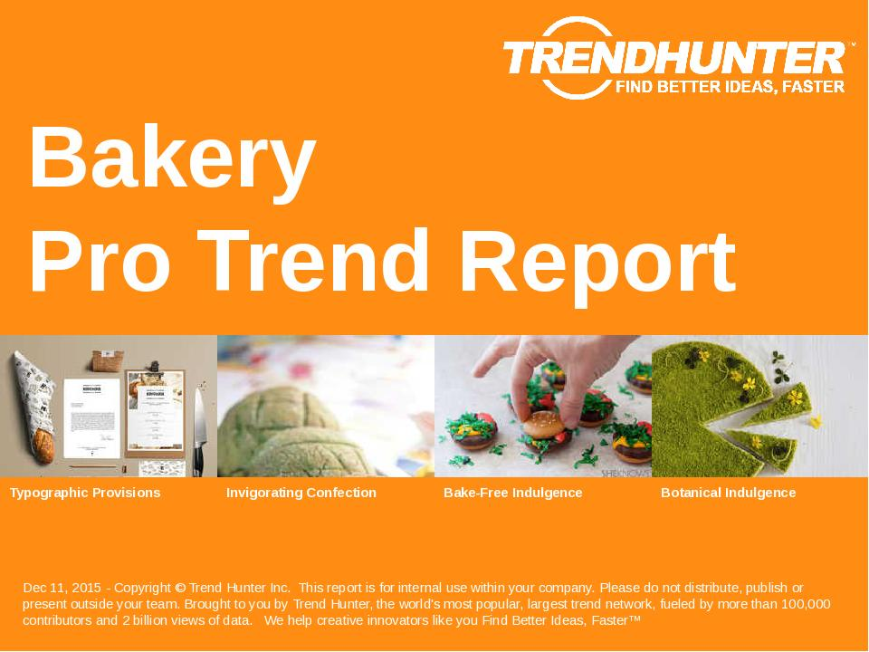Bakery Trend Report Research