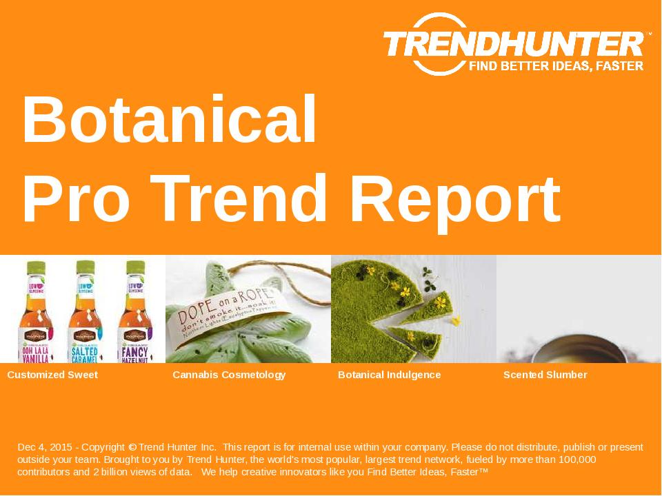 Botanical Trend Report Research