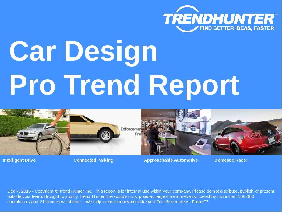 Car Design Trend Report Research