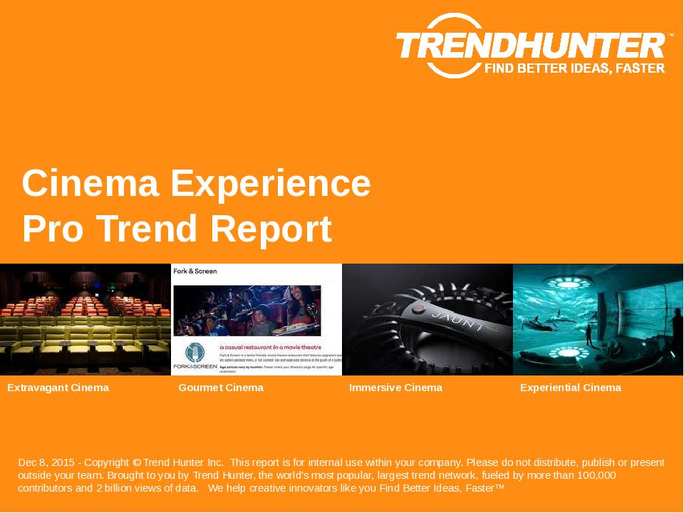 Cinema Experience Trend Report Research