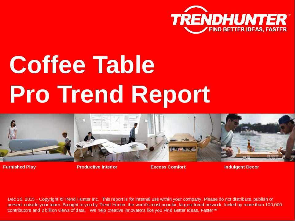 Coffee Table Trend Report Research