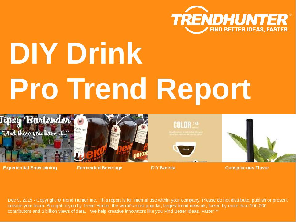 DIY Drink Trend Report Research