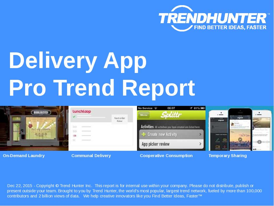 Delivery App Trend Report Research