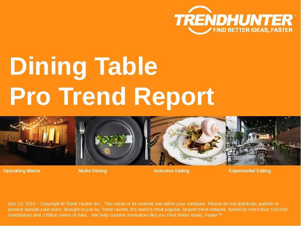 Dining Table Trend Report Research