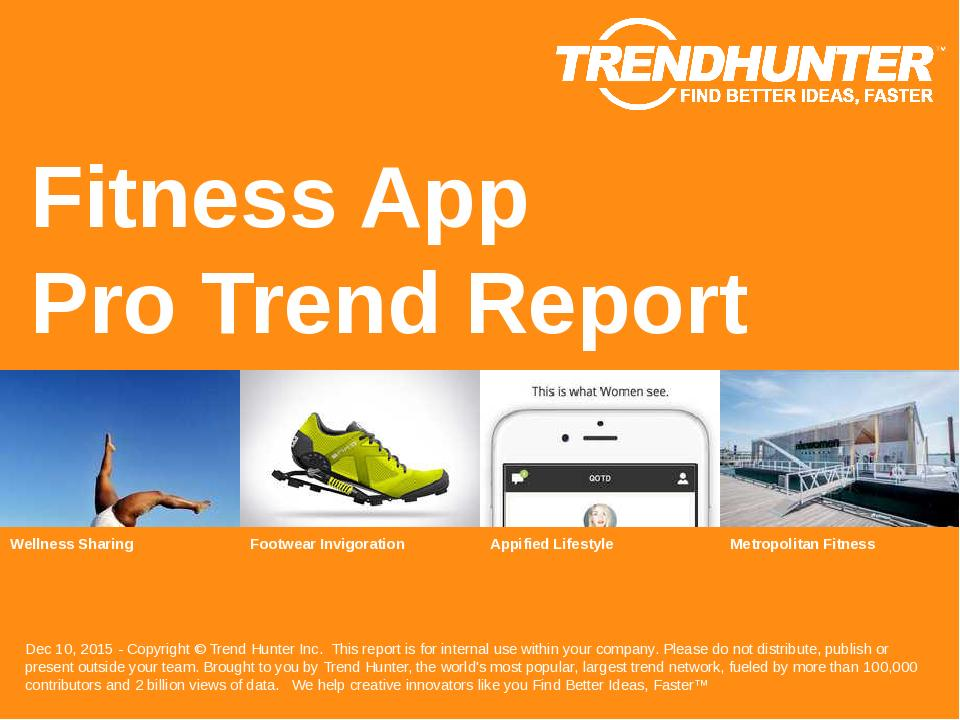 Fitness App Trend Report Research