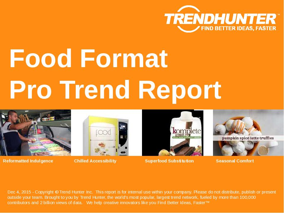 Food Format Trend Report Research