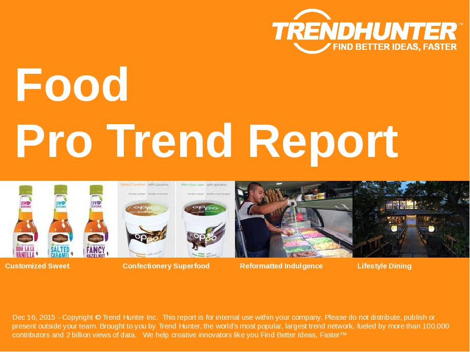 Food Trend Report Research