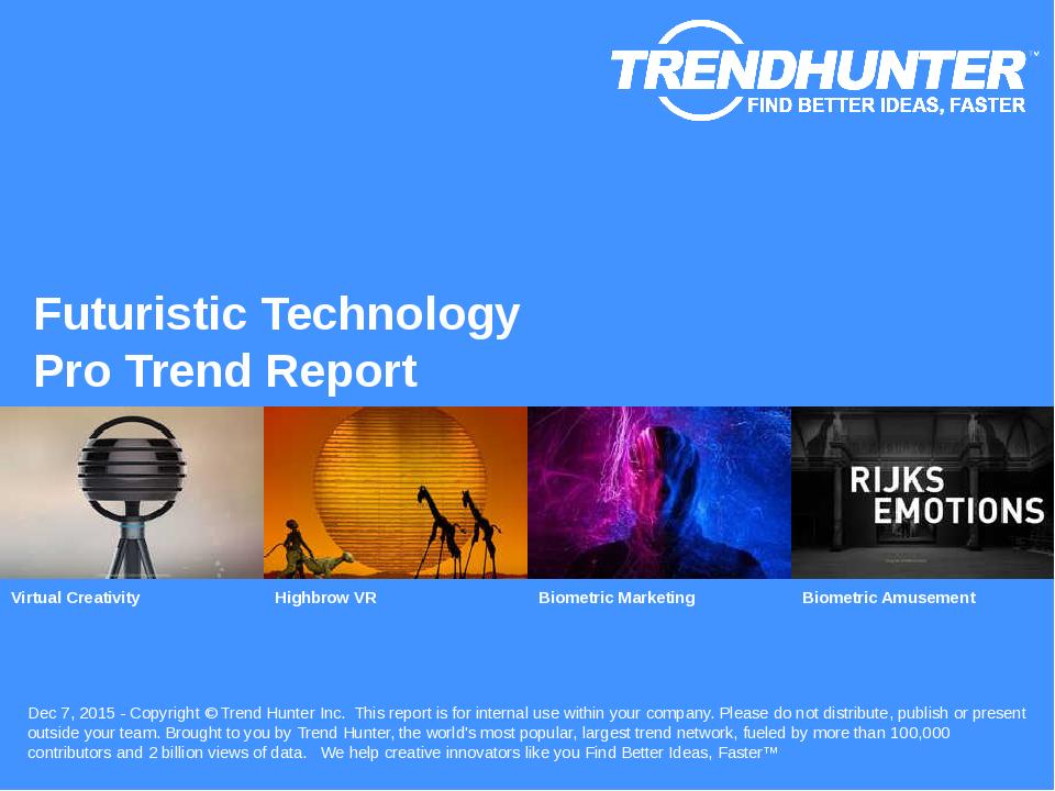 Futuristic Technology Trend Report Research