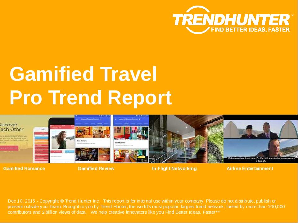 Gamified Travel Trend Report Research