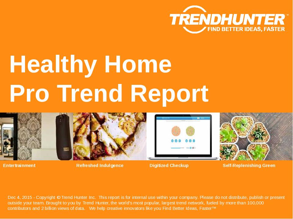 Healthy Home Trend Report Research