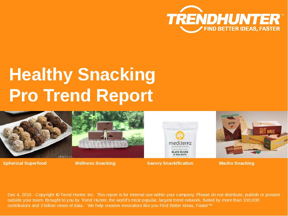 Healthy Snacking Trend Report Research