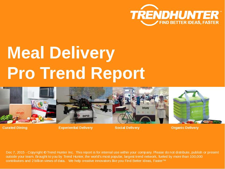 Meal Delivery Trend Report Research