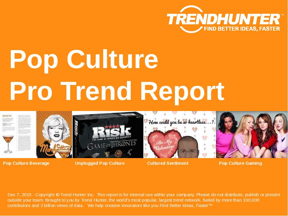 Pop Culture Trend Report Research