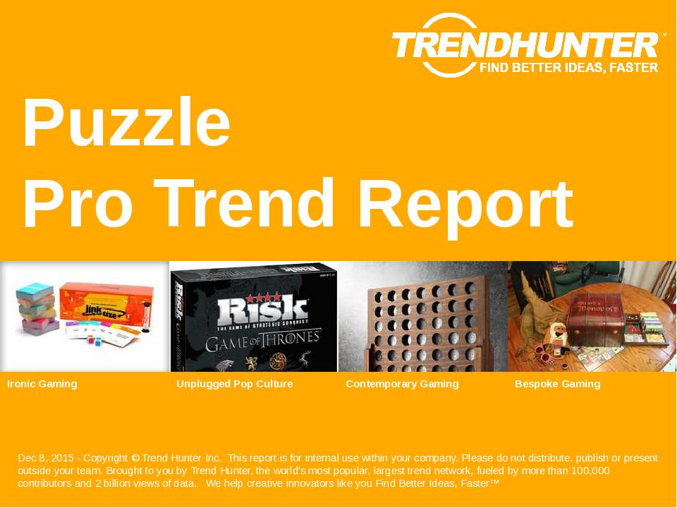 Puzzle Trend Report Research