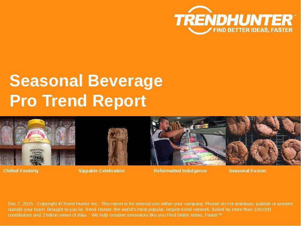 Seasonal Beverage Trend Report Research