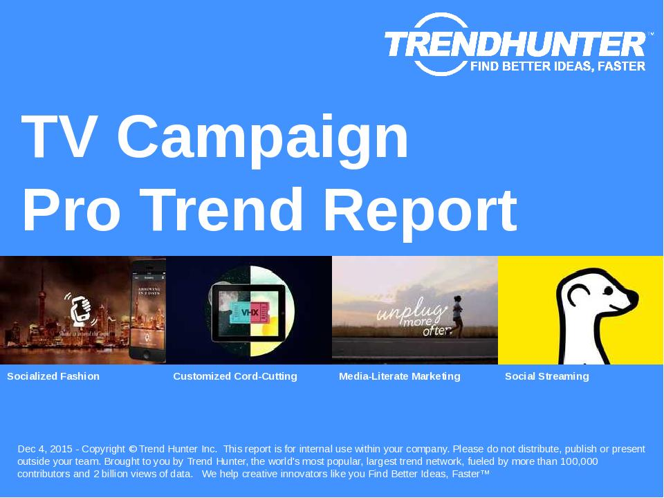 TV Campaign Trend Report Research