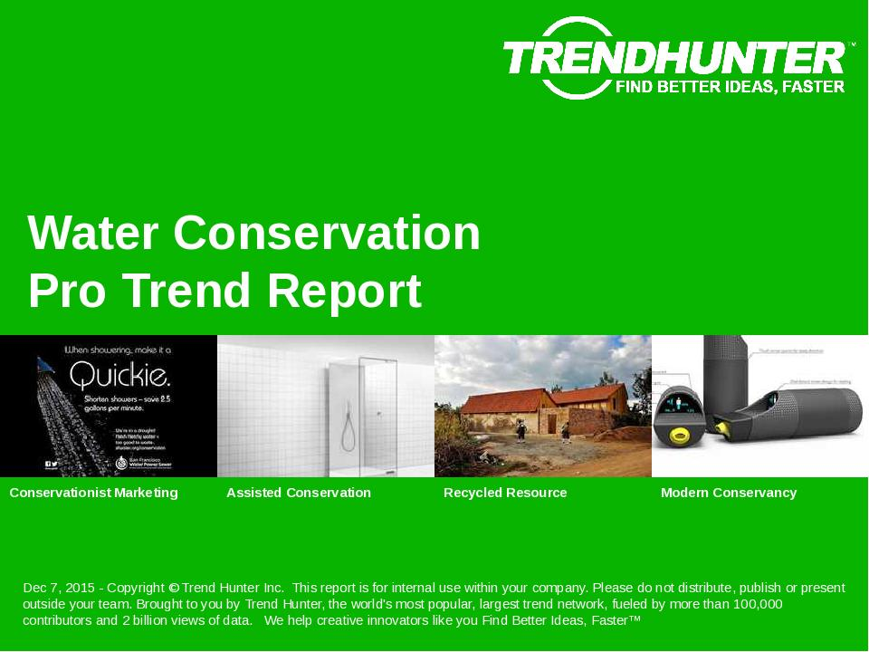 Water Conservation Trend Report Research