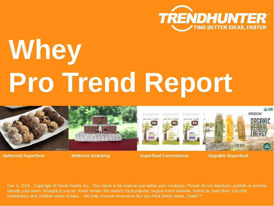 Whey Trend Report Research