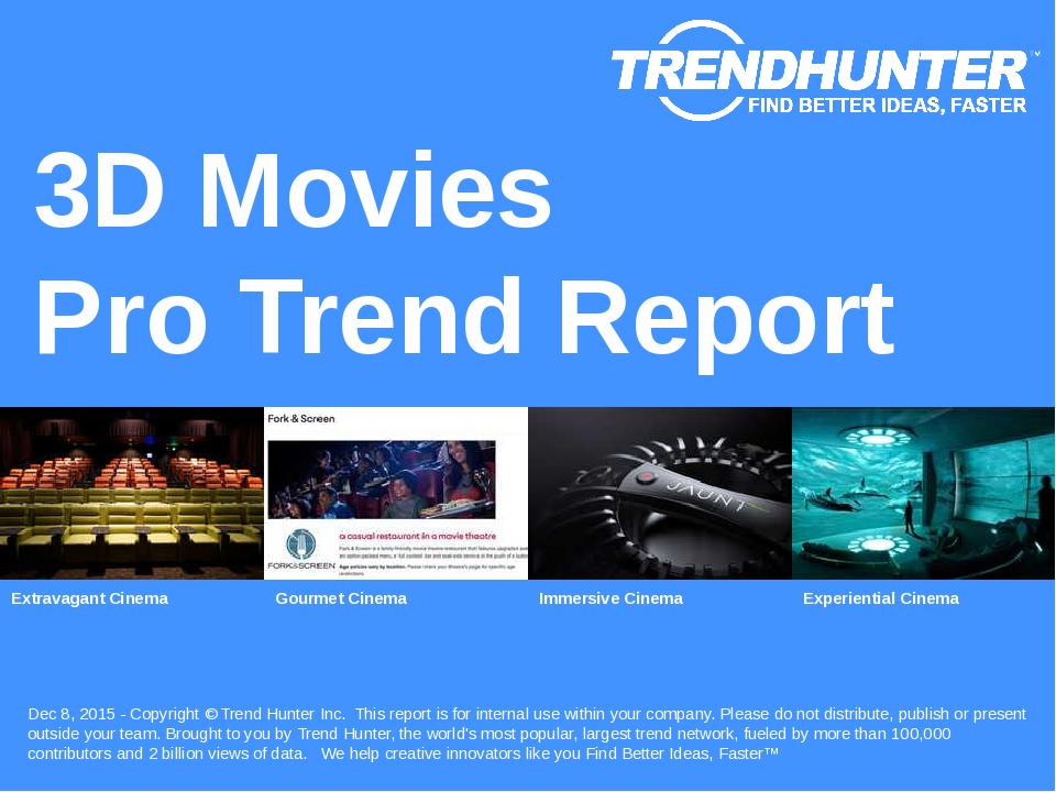 3D Movies Trend Report Research