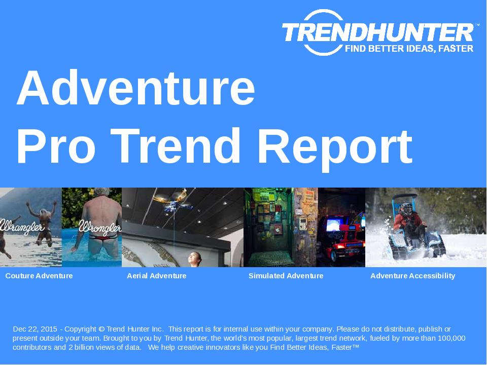 Adventure Trend Report Research